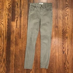 Madewell olive green skinny jeans